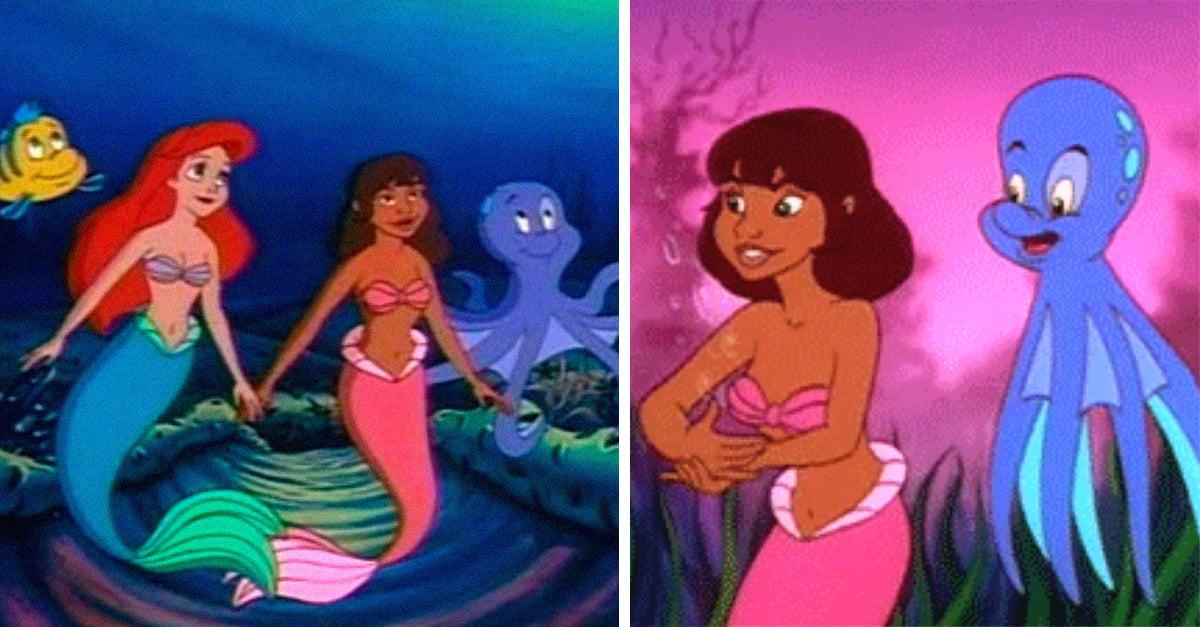 Gabriella, la sirena negra y sorda en la serie de La Sirenita