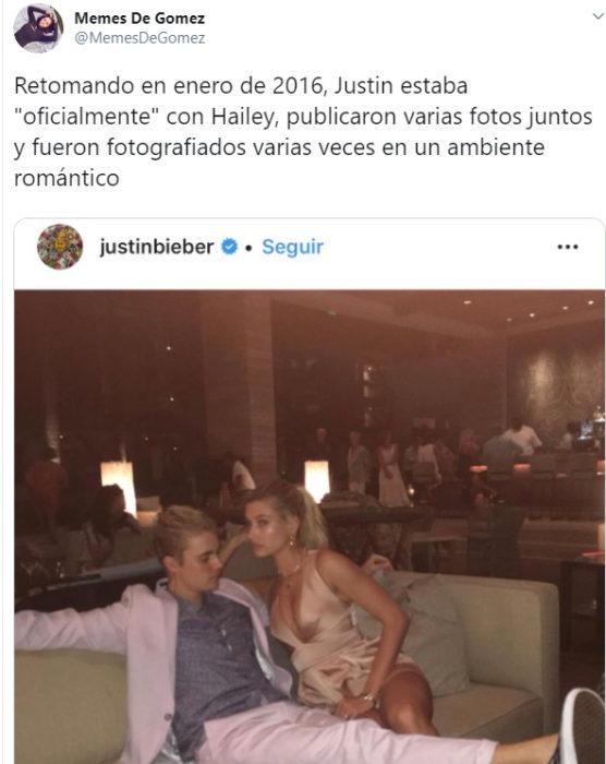 Comentarios en Twitter sobre la relación de Justin Bieber junto a Selena Gomez
