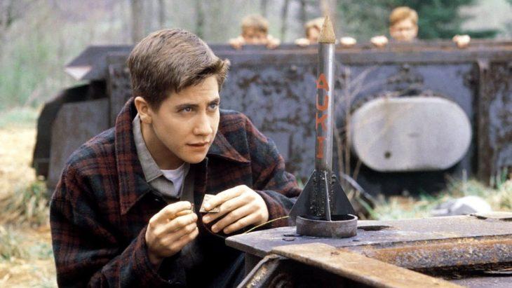 Actor Jake Gyllenhaal de joven en Cielo de octubre en 1999