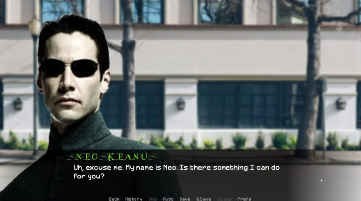 Juego de simulación que te permite tener cita con Keanu Reeves