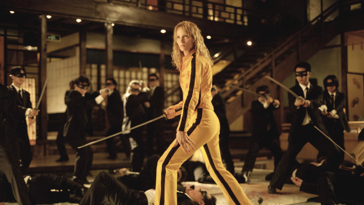 Uma Thurman interpretando el papel de La Novia en Kill Bill vol 3