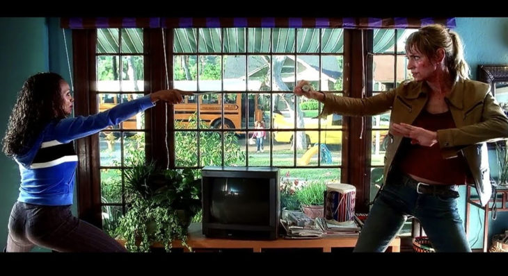 Escena de la película Kill Bill en la que ma Thurman peleando contra Verita Grenn