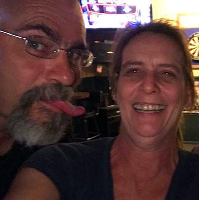 Lorie Morin y su esposo al que le disparó por roncar
