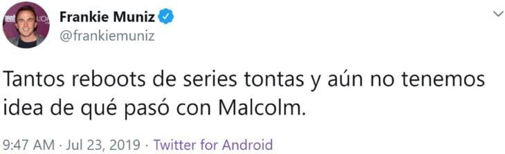 Frankie Muniz quiere hacer un reboot de Malcolm el de en medio