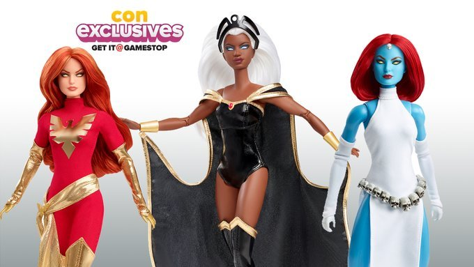 Muñecas barbie que son el homenaje a los personajes de los X-Men