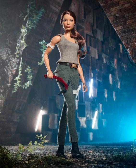 Muñeca Babrie en su versión Lara Croft de la película Tom Rider