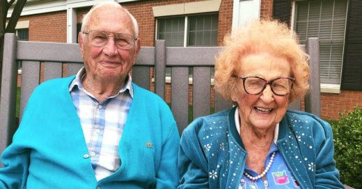 Pareja de 100 años se enamora y se casa