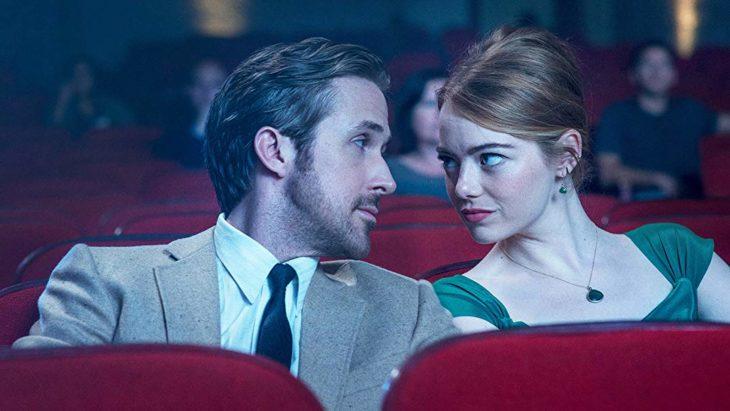 Emma Stone y Ryan Reynolds como Sebastian y Mia en La La Land