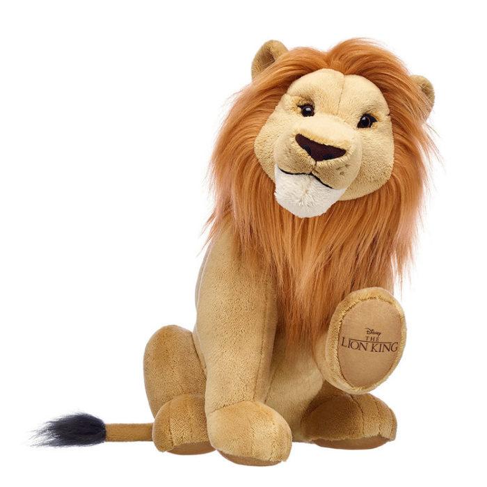 Simba, león de peluche creada por Build-A-Bear. Colección de peluches de El Rey León