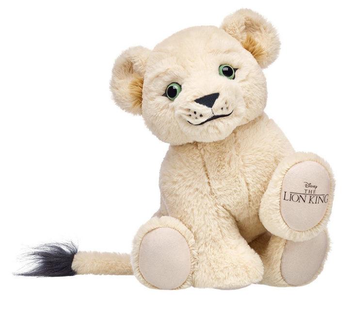 Nala, leona de peluche creada por Build-A-Bear. Colección de peluches de El Rey León