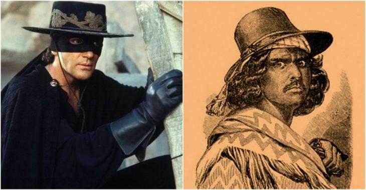 El Zorro personaje ficticio basado en Joaquin Murrieta