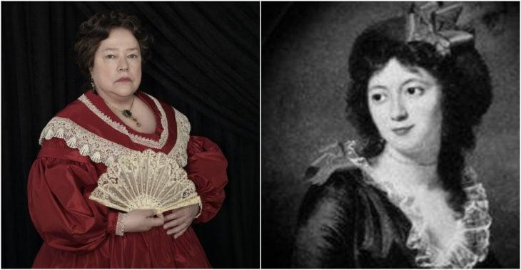 Delphine LaLaurie personaje ficticios basado el la criminal Madame LaLaurie