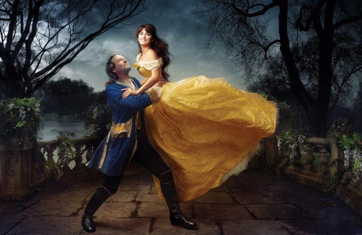 Penélope Cruz and Jeff Bridges como Bella y Bestia