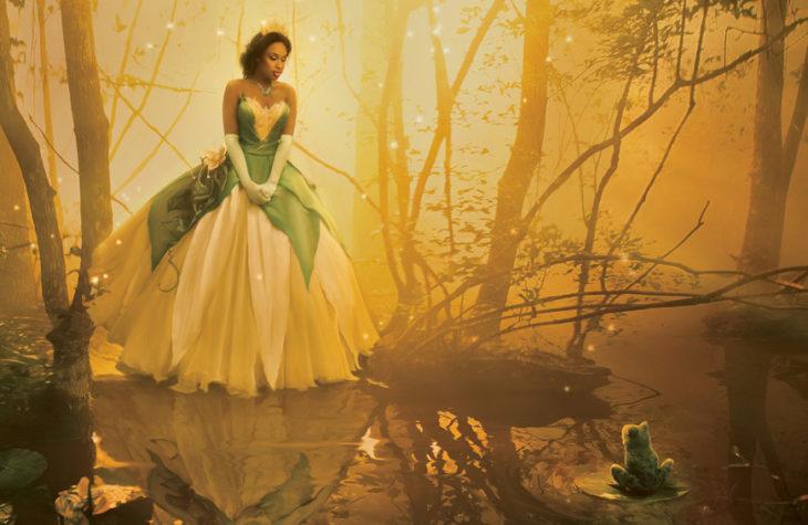 Jennifer Hudson como Tiana en La princesa y el sapo