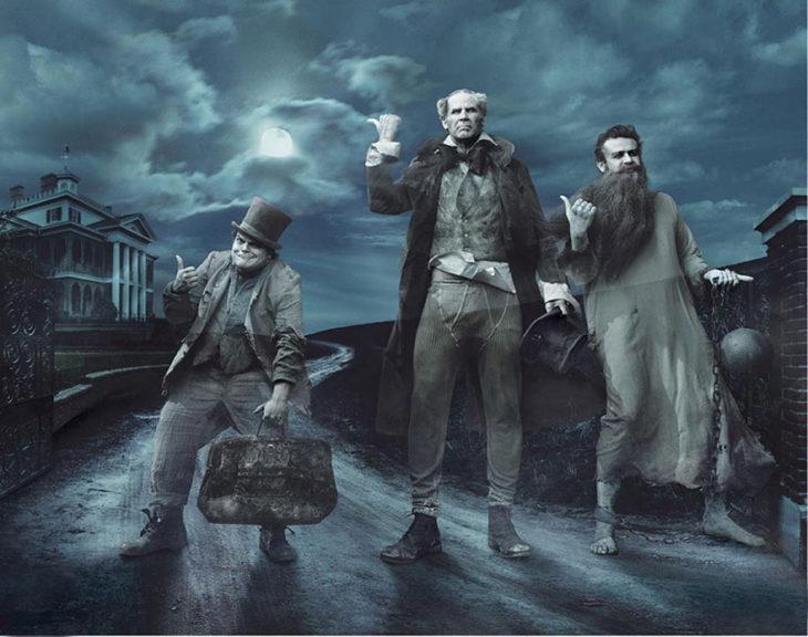 Jack Black, Will Ferrell y Jason Segel como lso tres fantasmas de Scrooge