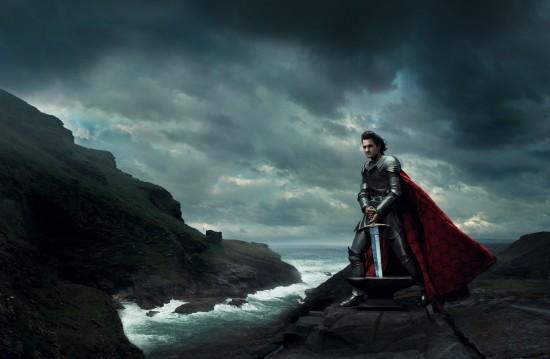 Roger Federer como el rey Arturo de La espada en la piedra