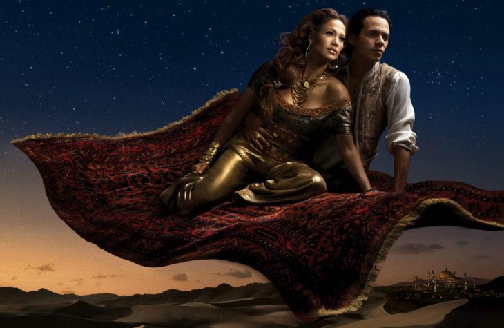 Jennifer Lopez y Marc Anthony como la princesa Jasmine y Aladdin