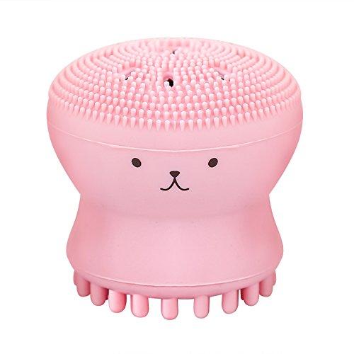 Limpiador facial de goma en color rosa
