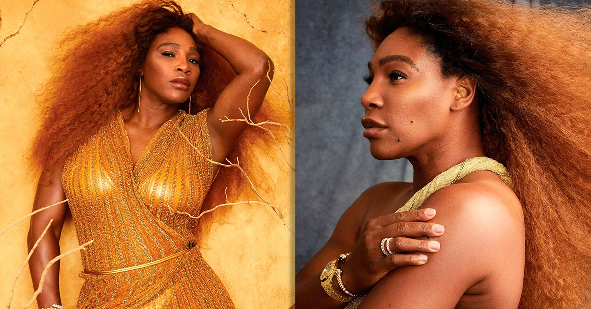 Serena Williams posó sin retoques para la revista Harper's Bazaar