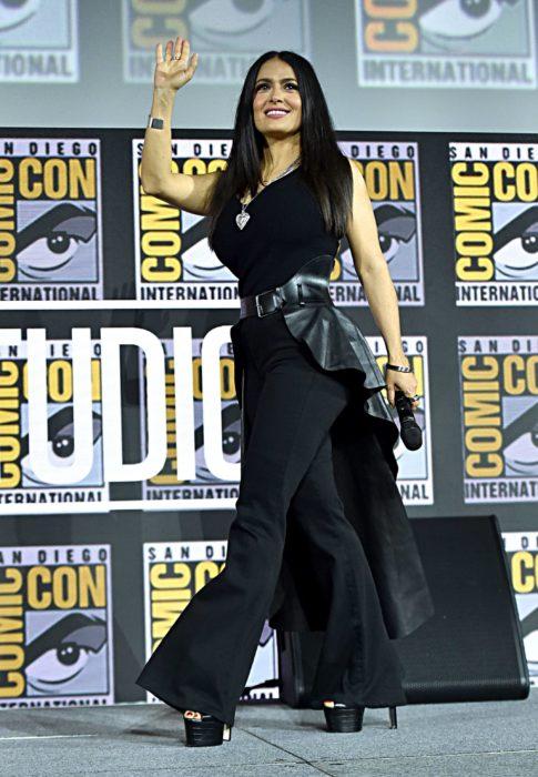 Salma Hayek en la presentación de The Eternals en el Comic Con
