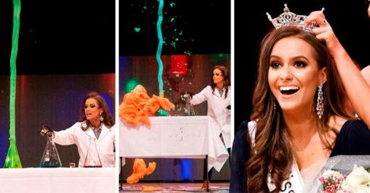 Se convirtió en Miss Virginia después de presentar su talento como científica
