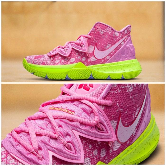 Tenis deportivos Nike inspirados en Bob Esponja, Patricio Estrella