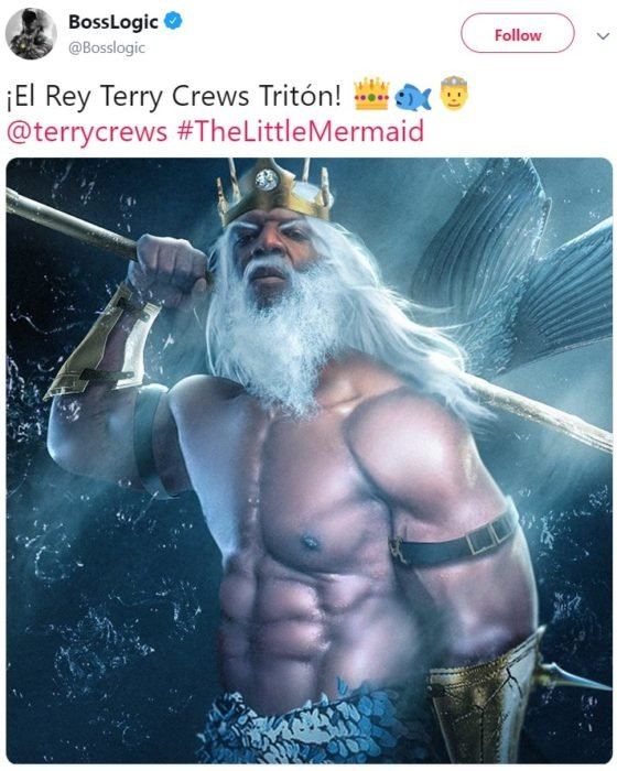 Teryy Crews quiere ser el Rey Tritón en la nueva película live action de La Sirenita de Disney