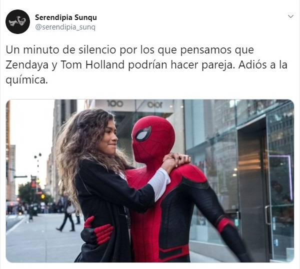 Zendaya y Tom Holland como Mary Jane y Spider-Man en Spider-Man