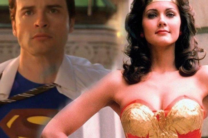 Tom Welling como Superman y Lynda Carter como La Mujer Maravilla