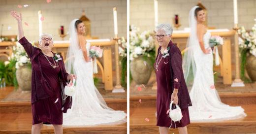 """Le pidió a su abuela que fuera la """"niña"""" de las flores"""