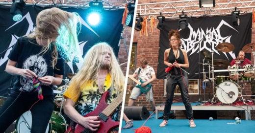 Tejer mientras bailan al ritmo del heavy metal, el nuevo reto en Finlandia
