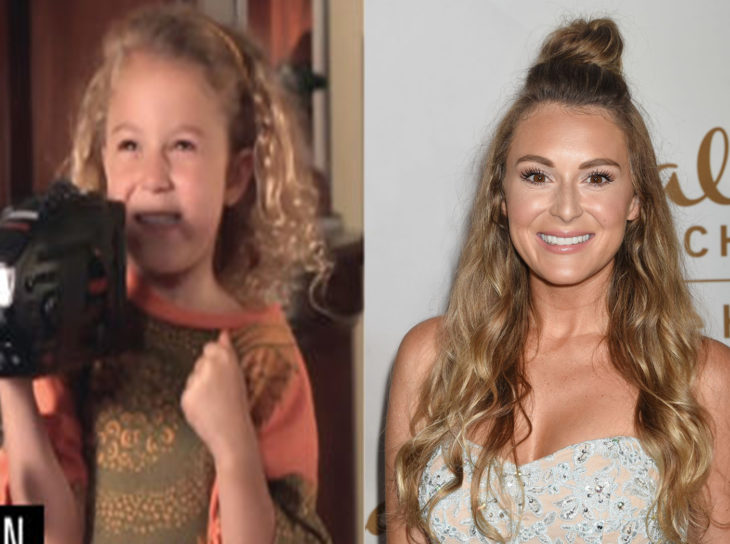 Alexa Vega de niña interpretando a Priscilla O'Shea y después en la actualidad