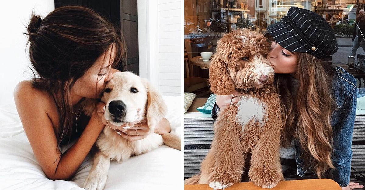 Personas prefieren besar más a sus perros que a sus parejas