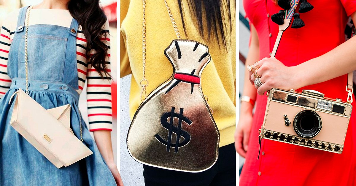15 Bolsas que tienen un toque original, divertido y lindo