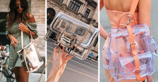 13 Bolsos transparentes en los que no perderás tus accesorios