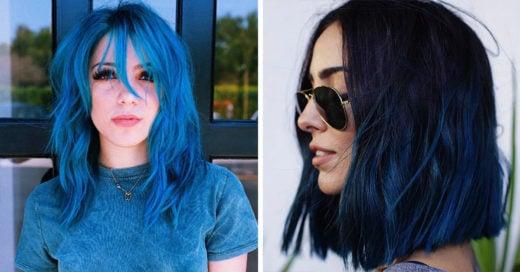 15 Ideas para teñir tu cabello de azul estas vacaciones