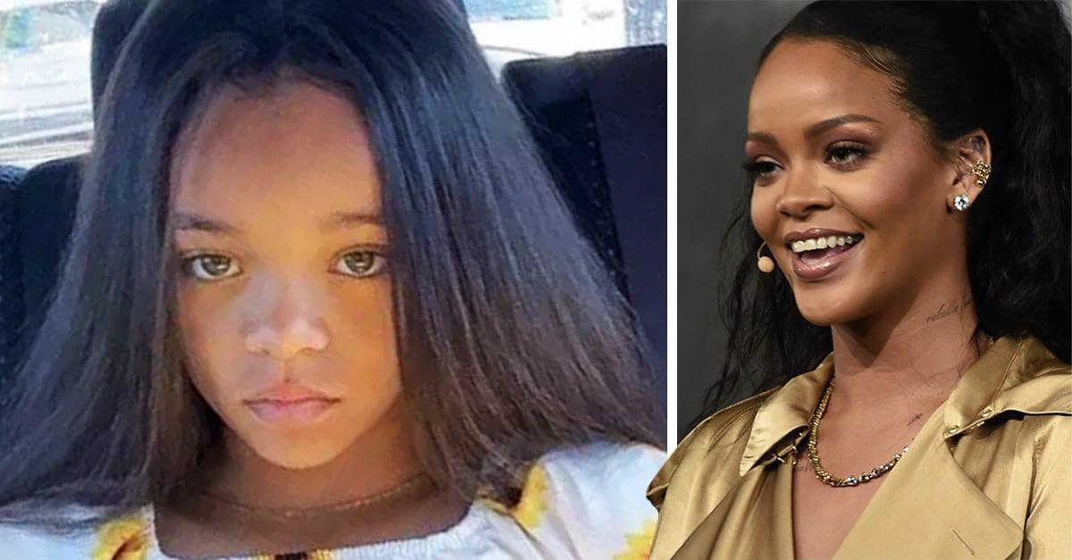 Rihanna está sorprendida por que acaba de encontrar a su pequeño clon