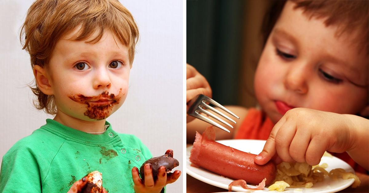 Lo que los niños no deben comer