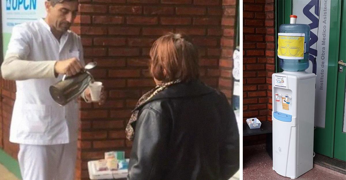 Farmacia ofrece comida y bebida a quienes pasen hambre y frío