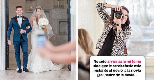 Invitada arruina la foto de la novia con su padre y la fotógrafa de la boda publica contundente mensaje
