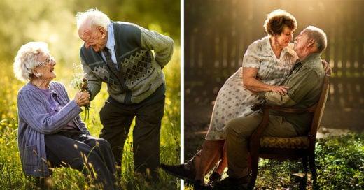 Fotografía a parejas mayores y su amor es maravilloso
