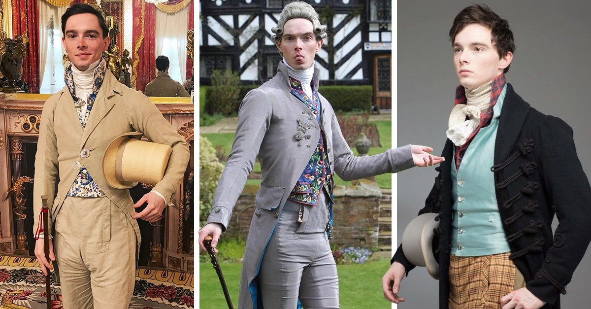 Este chico solo viste ropa que parece sacada de 1820