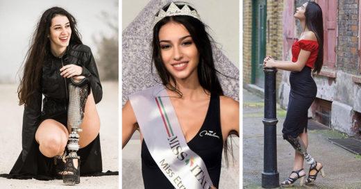 Mujer sin pierna logra vencer estereotipos y obtiene tercer lugar en Miss Italia