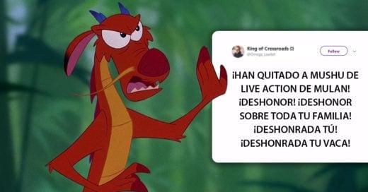 Fans de 'Mulan' enojados porque hay rumores de que Mushu no saldrá en la película