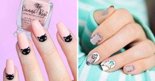 15 Lindos diseños de uñas para las amantes de los gatos