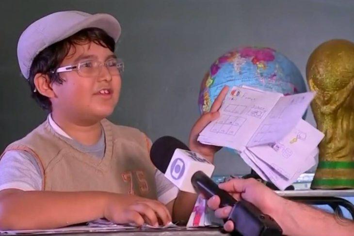 Un niño brasileño realizó la misma acción en 2018