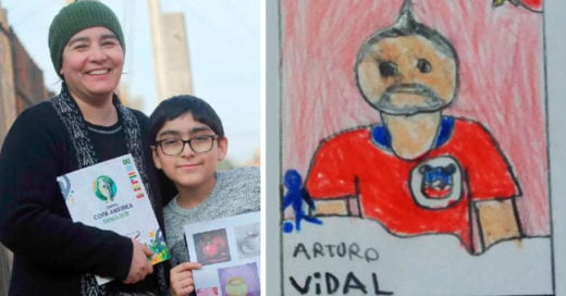 Niño chileno dibuja sus propias estampas para álbum de la Copa América