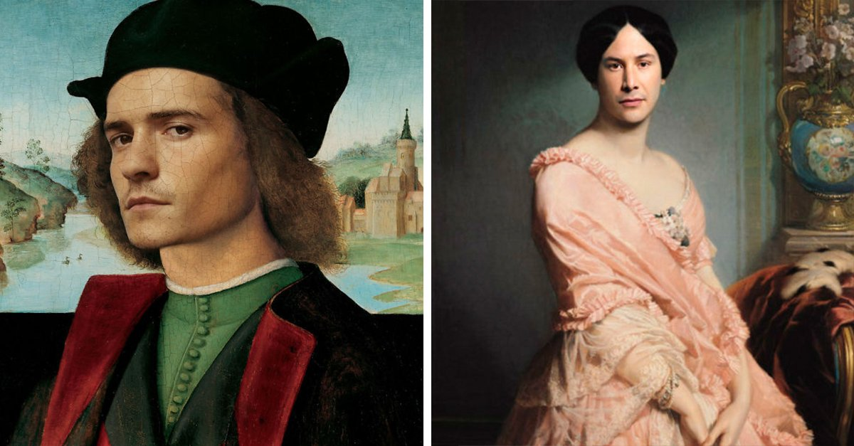 15 Pinturas clásicas recreadas con actores famosos