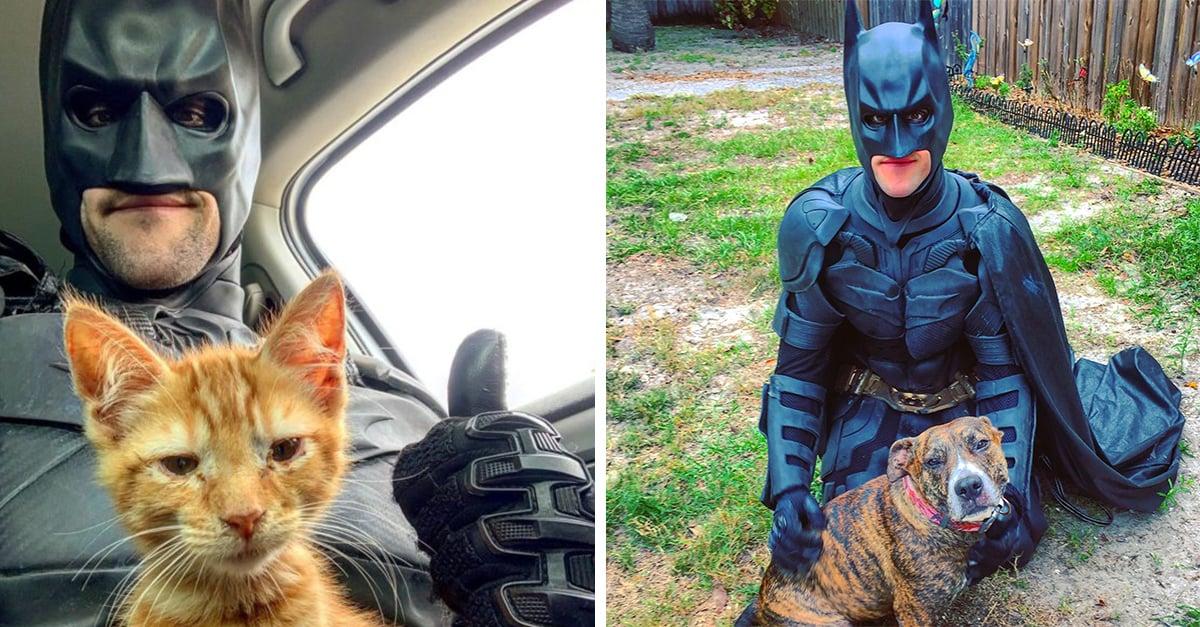 Chico vestido de Batman salva animales de ser sacrificados