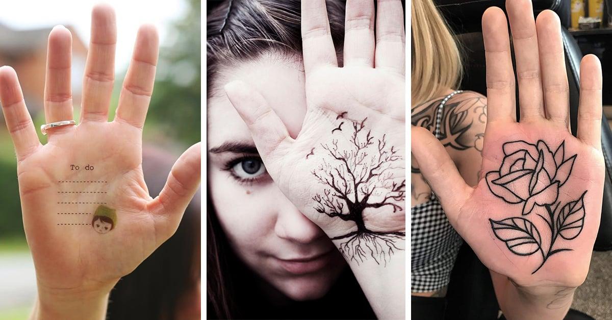 15 tatuajes en las palmas de las manos que te encantarán